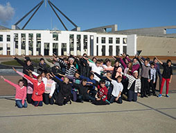 Students on camp in Canberra